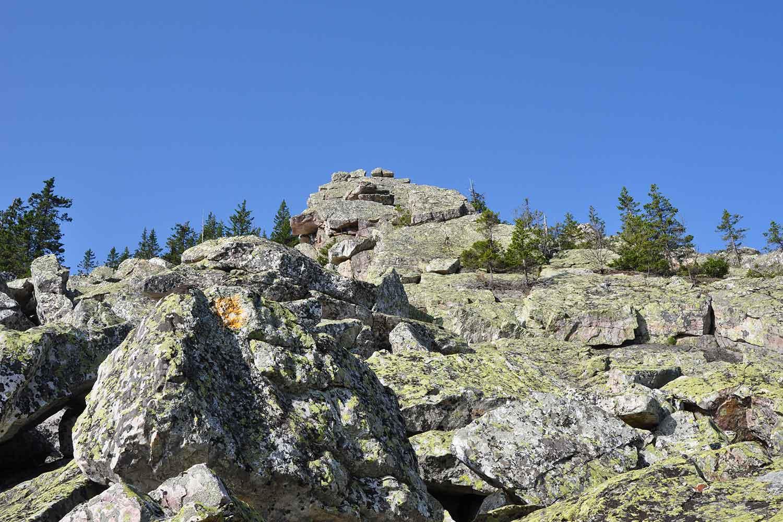 Курумники на скалах Бараньи лбы