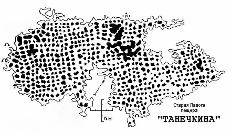 план пещеры ТАНЕЧКИНА