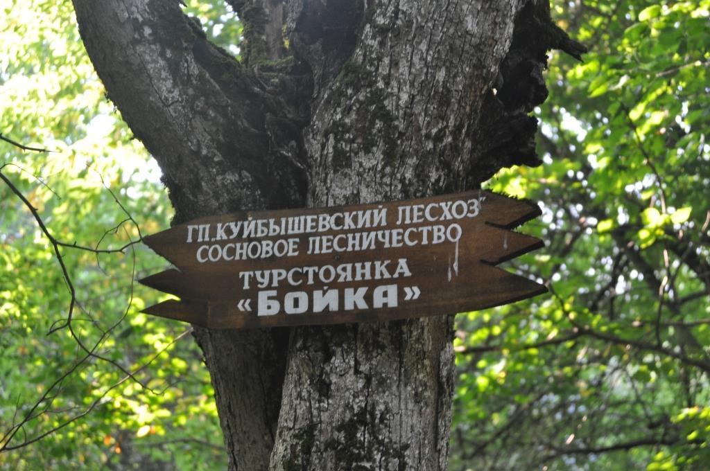 """Указатель """"туристическая стоянка БОЙКА"""""""