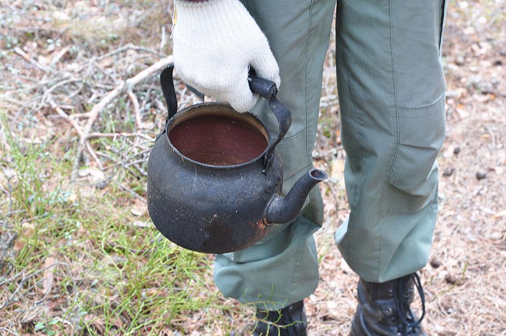 Чайник вместо котелка