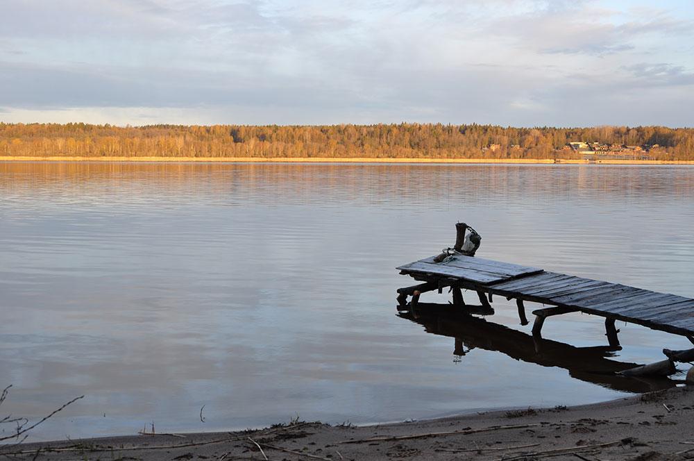 Закат на озере Суходольское