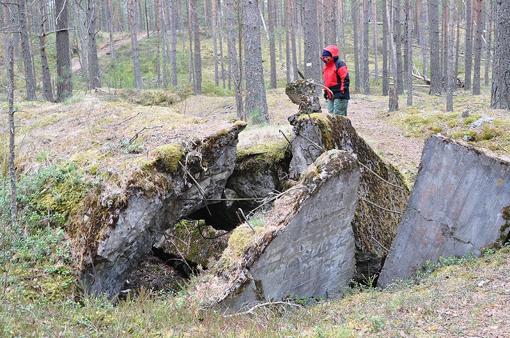 Остатки фортов на реке Бурная
