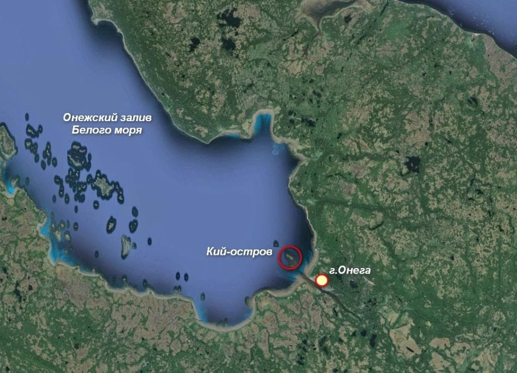 Карта Онежского залива