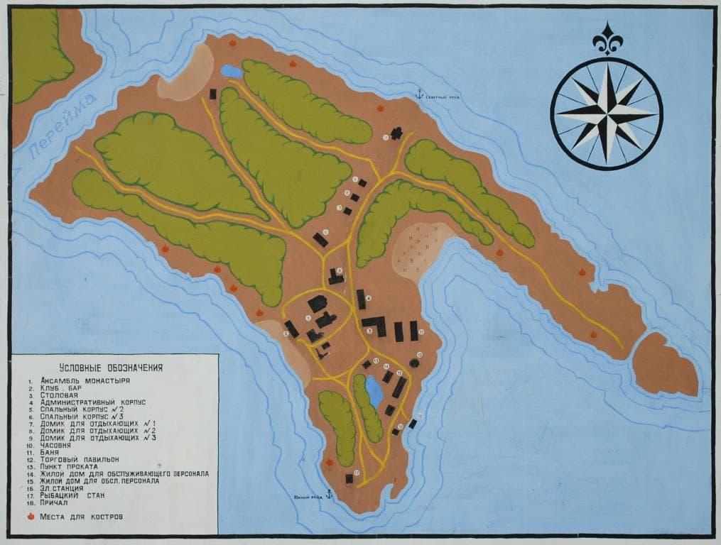 Схема острова Кий