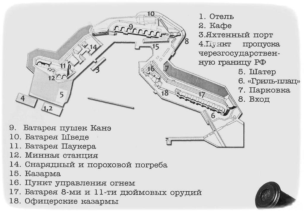 План форта Константин