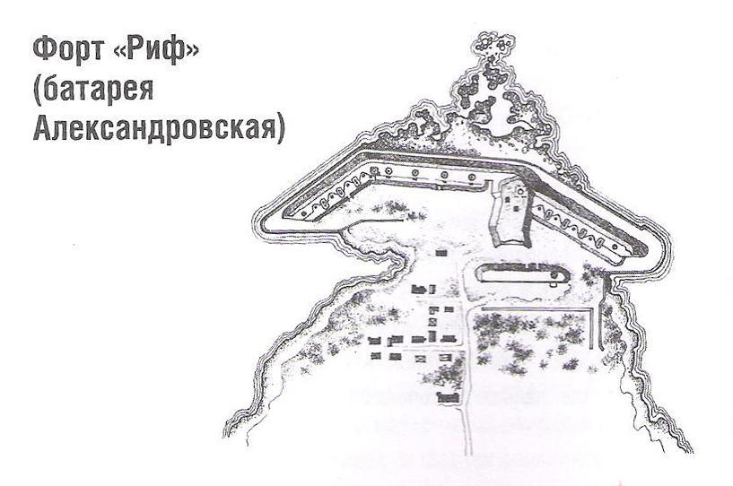 Форт Риф. Батарея Алексанровская