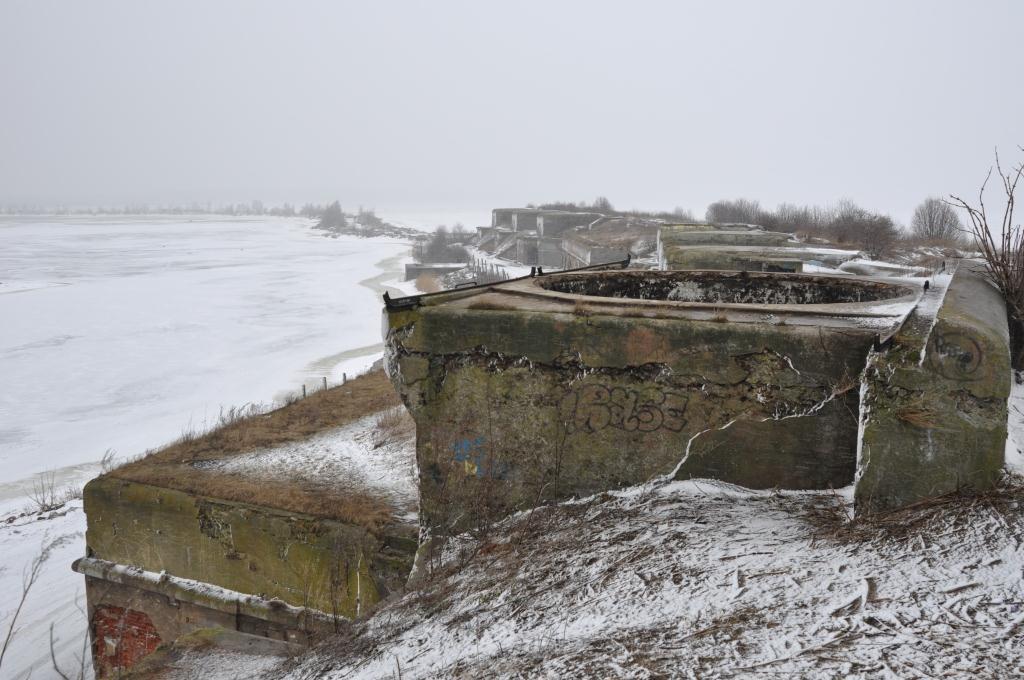 Панорама батарей форта