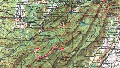Маршрут по Зигальге на карте