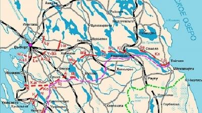 Схема линии Маннергейма