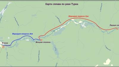 Маршрут сплав по реке Турка