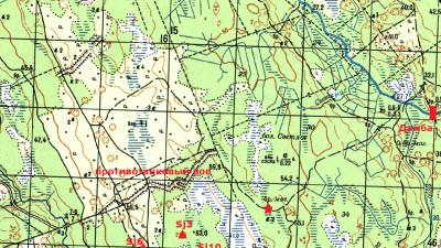 Схема укрепрайона Суммаярви-Ляхде линии Маннергейма