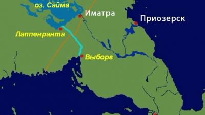 Сайменский канал на карте