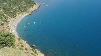 Серебряный пляж в районе Балаклавы. Крым