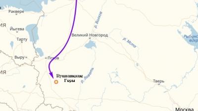 Дорога в Пушкинские Горы