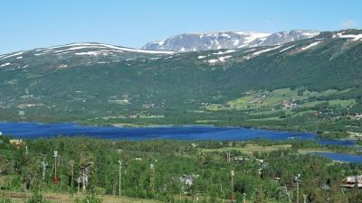 Панорама горнолыжного курорта