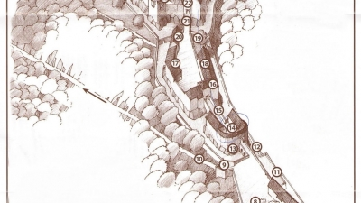 План замка Пернштейн