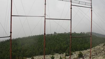 ТВ ретранслятор на вершине горы