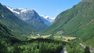 Вид на долину Хьелле