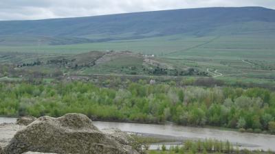 Вид с южных стен Уплисцихе
