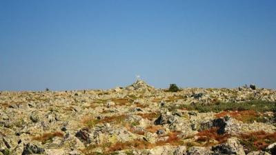 Плато на вершине горы Поперечная