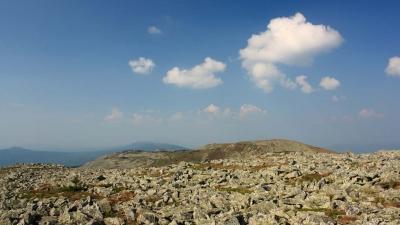Зигальга. Вид с горы Поперечная