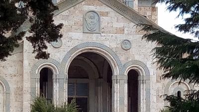 Строящийся храм Святой Нино