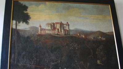 вид замка в Средние века