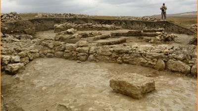 Раскопки древнескифского городища