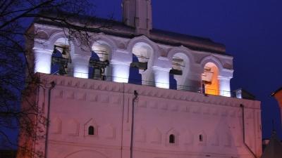 Звонница Софийского собора вечером
