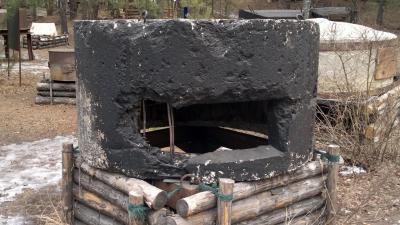 Огневая точка из железобетонного канализационного кольца