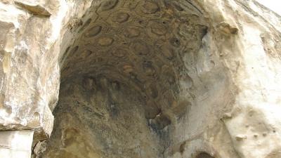 Потолок Храма с кессонами