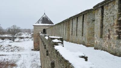 На крепостной стене Бояршего города