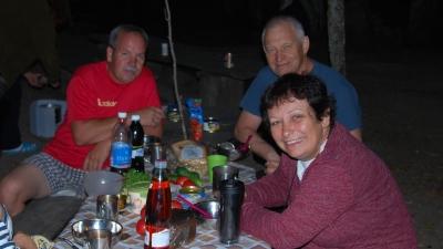 Ужин туристов
