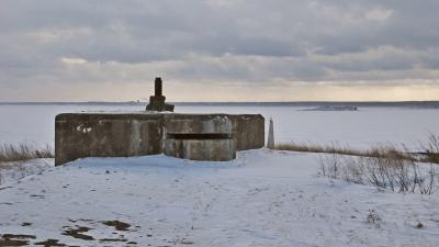 Командный пункт на левом фланке форта