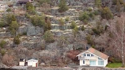 Шведские домики на берегу фьордов