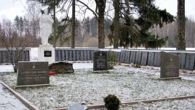 Братская могила у поселка Курсиши. Здесь покоится 4,5 тысячи воинов
