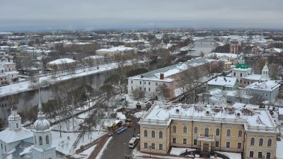 Панорама города с колокольни Софийского собора