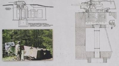 Схема установки башни КВ-1
