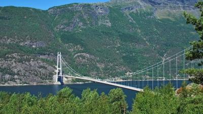 Вид на хардангерский мост