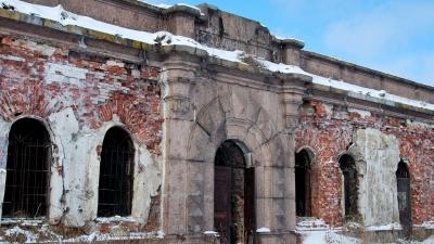 Центральная часть горжевой стороны форта