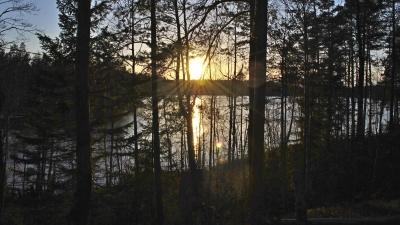 Закат на озере Пестово