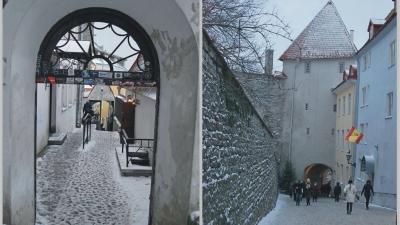 Улицы Короткая (слева) и Длинная Нога