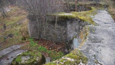 Артиллериске позиции центральной части форта
