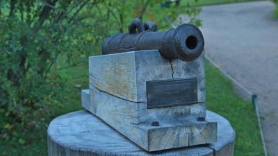 Михайловское. Потешная пушка у дома