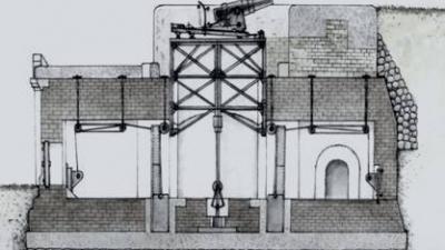 Схема установки орудия Паукера