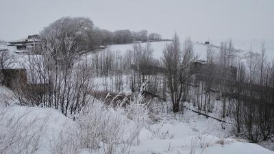 Панорама горжевой части форта