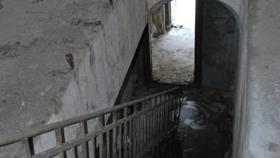 Лестница из казармы к орудийным дворикам