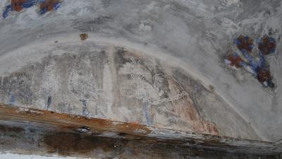 Старинные фрески в келье