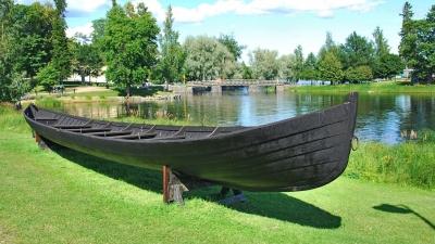 Лодка древних финнов