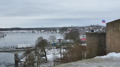 Пограничный переход в Эстонию. Вид с Пороховой башни
